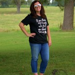 Casual T-shirt and Cropped Jeans