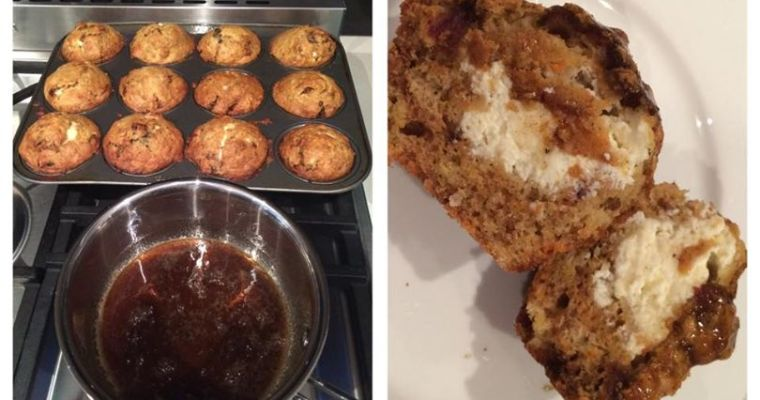 carrot cake muffins with spiced honey glaze by Donna Hay