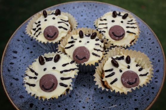 chai latte zebra cupcakes