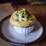 Mushroom and Roast Pot Pie with a Cheddar Biscuit-Top