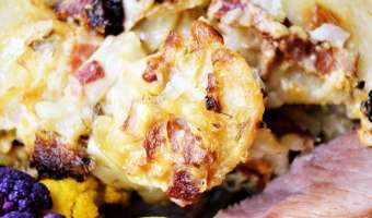 Bacon Parmesan Ranch Scallop Potatoes