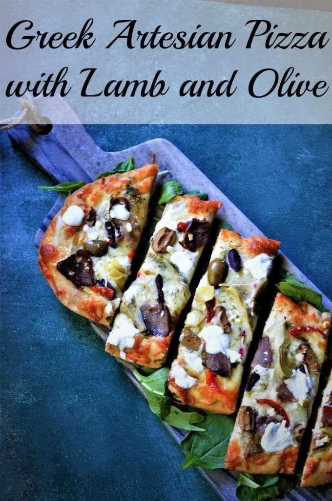 Lamb Greek Pizza