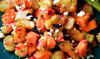 Russet Sweet Potato Medley with Beets and Feta: A Savory Sweet Side Dish the Whole Family Will Love