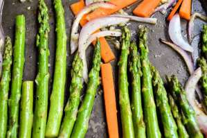 Honey Garlic Carrots and Asparagus Feature