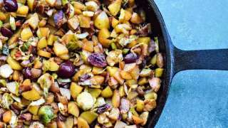 Cherry Peach Potato Hash