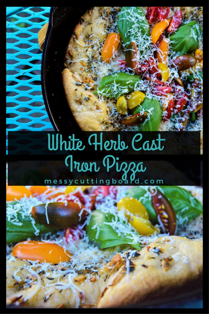 WHITE HERB CAST IRON PIZZA Pin #2