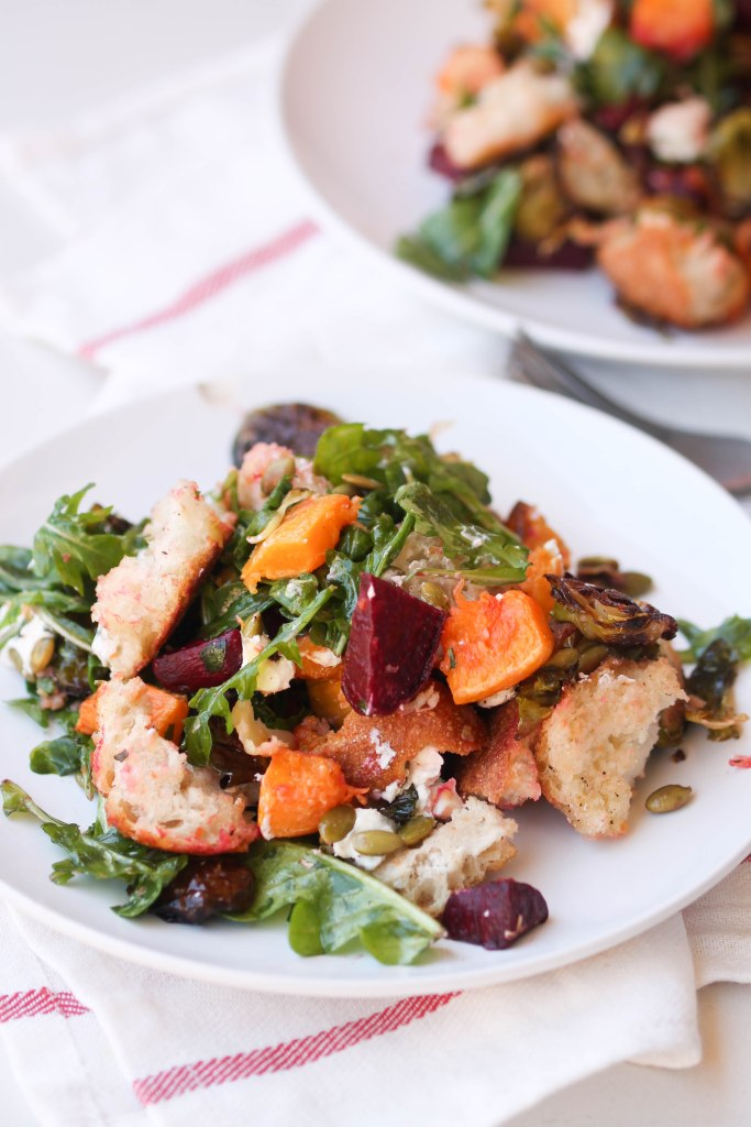Fall Panzanella Salad by Food Pleasure and Health