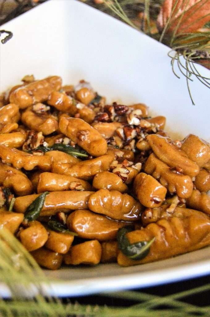 Sweet Potato Gnocchi in a Pecan Maple Sage Sauce