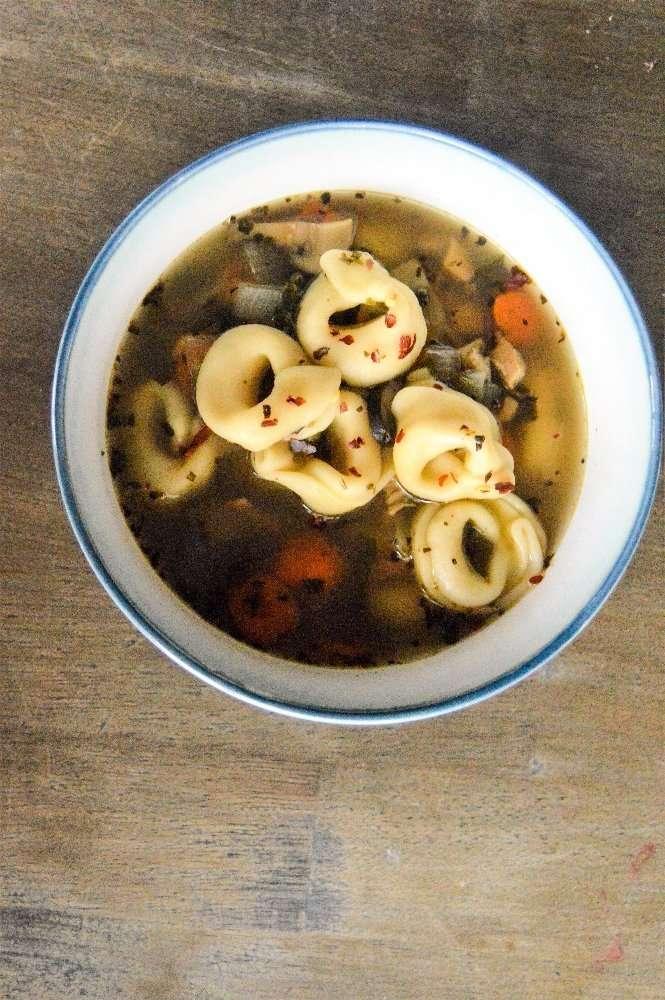 Turkey Tortellini Soup