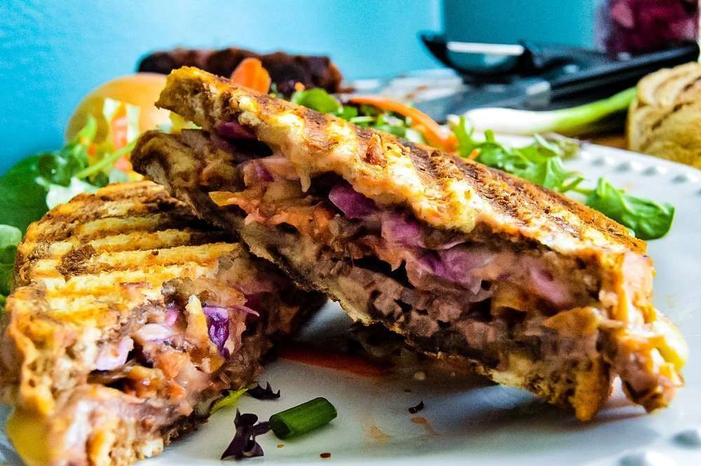 Beer Cheese Corned Beef Panini feature