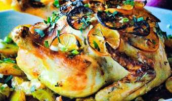 Lemon Herb Roasted Chicken Feature