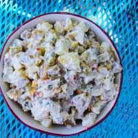 Sweet Pepper and Cornichon Potato Salad