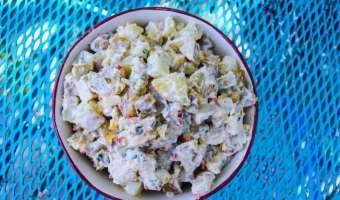 Sweet Pepper and Cornichon Potato Salad Feature