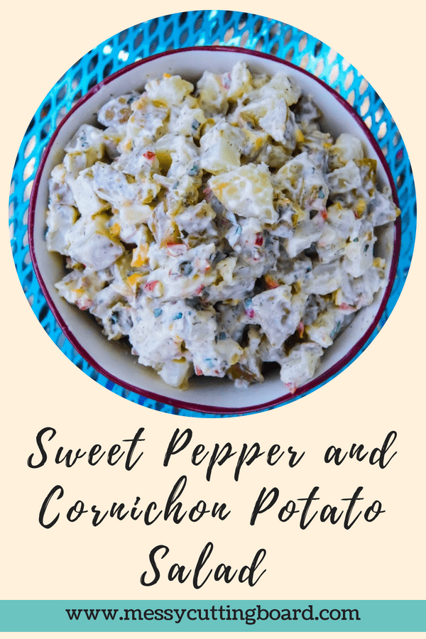 Sweet Pepper and Cornichon Potato Salad Title