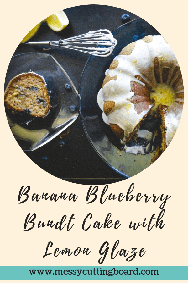 Banana Blueberry Bundt Cake Title
