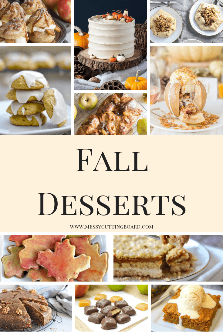 Pinnable image for the Fall Dessert List Post