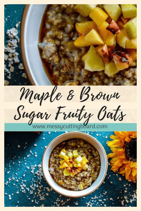 Maple Brown Sugar Fruity Oats Pin