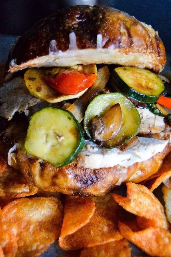 Italian Chicken Sandwich Close