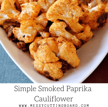Simple Smoked Paprika Cauliflower feature image