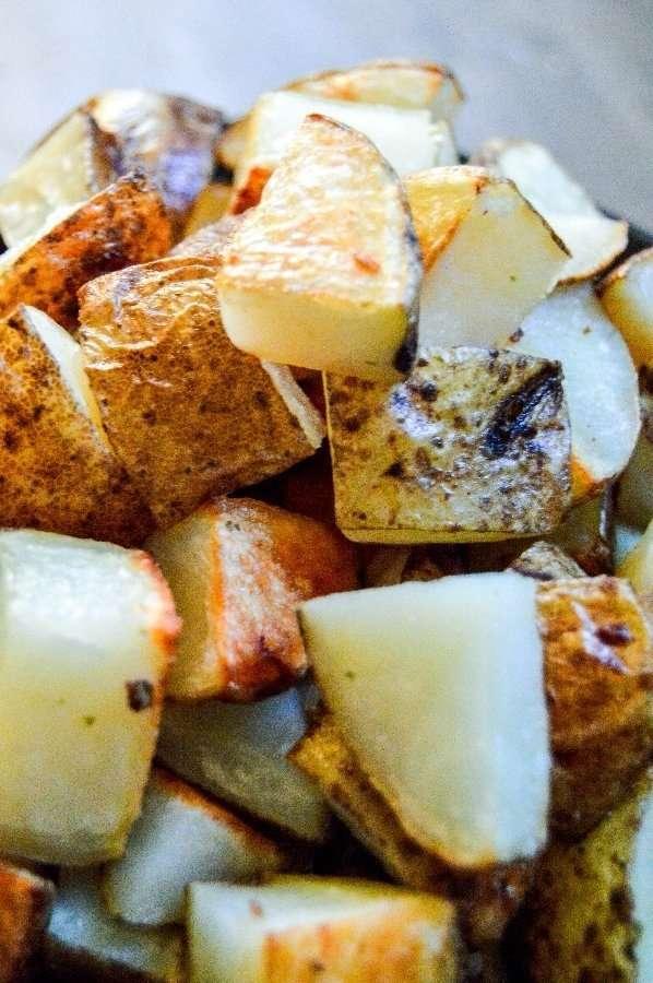 Garlic Butter Potatoes Up Close