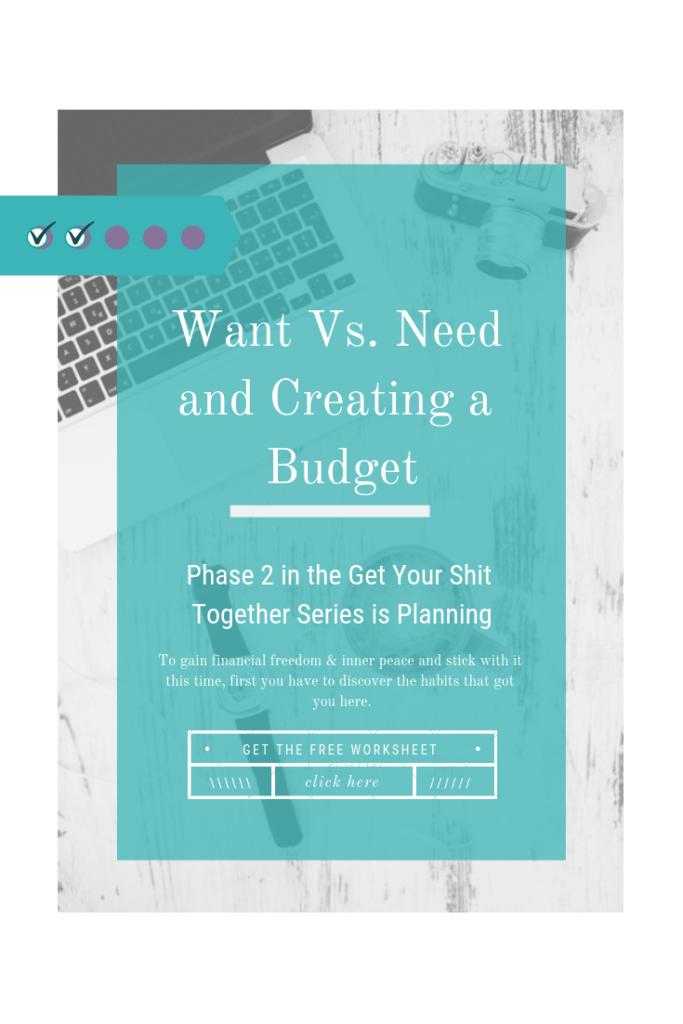 Budget Wants Vs Needs Pin