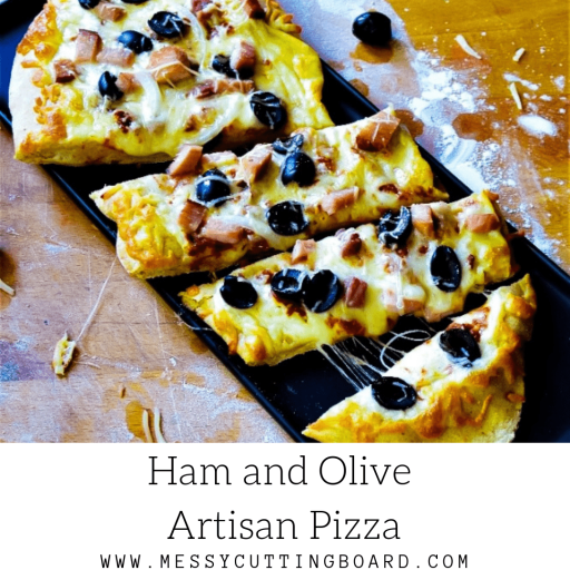 Ham and Olive Artisan Pizza Feature