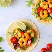 Saffron Shrimp Tacos