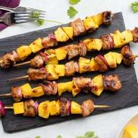 Pork Pineapple Kabobs with Grilled Mango