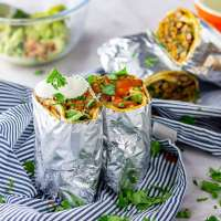 Vegetarian Breakfast Burrito Perfect for Meal Prep • The Cook Report
