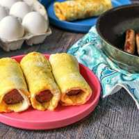 Freezable Grab & Go Sausage Egg Roll - Easy Low Carb Breakfast