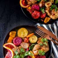 Sheet Pan Chicken Thighs with Citrus-Chipotle Glaze