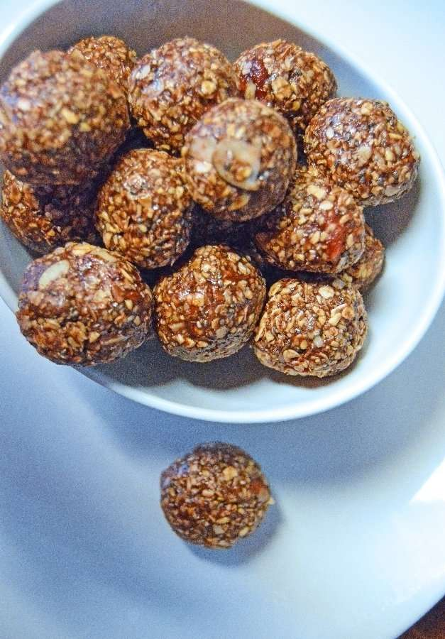 Complete Chocolate Raspberry Hazelnut Energy Ball Treats