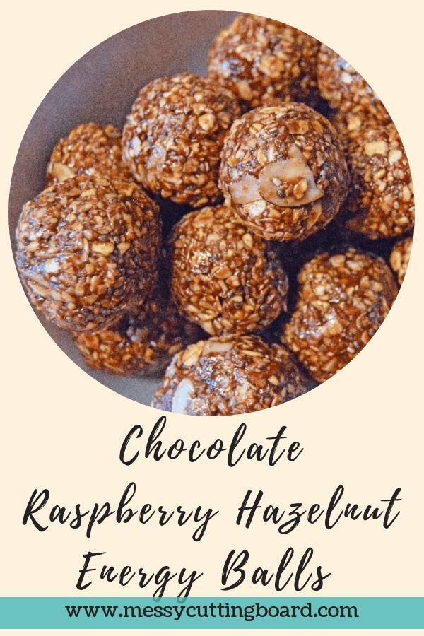 Title Chocolate Raspberry Hazelnut Energy Ball Treats
