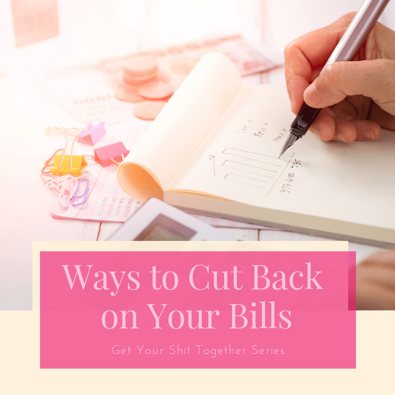Title Ways to Cut Back on Your Bills