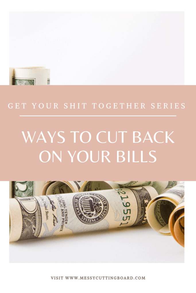 Pinnable image Ways to Cut Back Your Bills