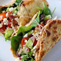 Chicken Hummus Naan Wraps