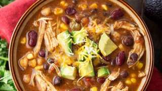 Instant Pot Chicken Taco Soup | Simply Happy Foodie