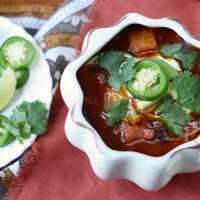 Crockpot Pumpkin Chicken Chili - Vintage Kitty