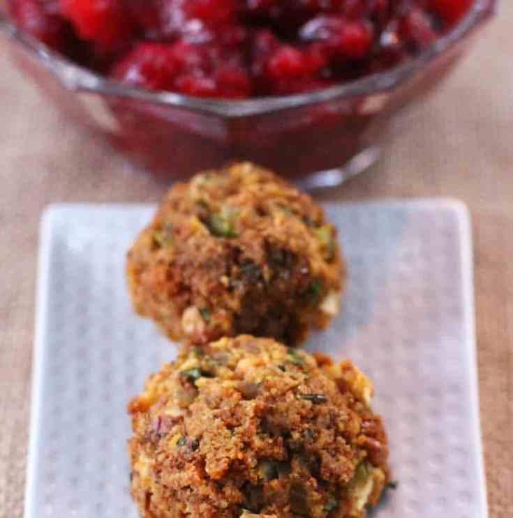 Cornbread Stuffing Balls - My Favorite Thanksgiving Stuffing