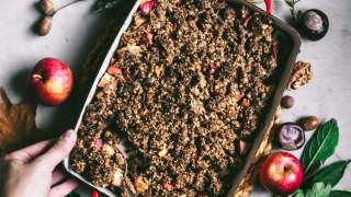 Hazelnut Apple Crumble