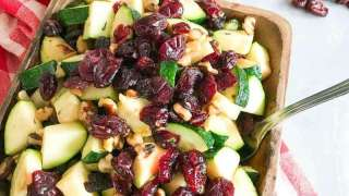 Sauteed Zucchini with Walnuts and Cranberries Recipe #FriendsgivingCranberryContest