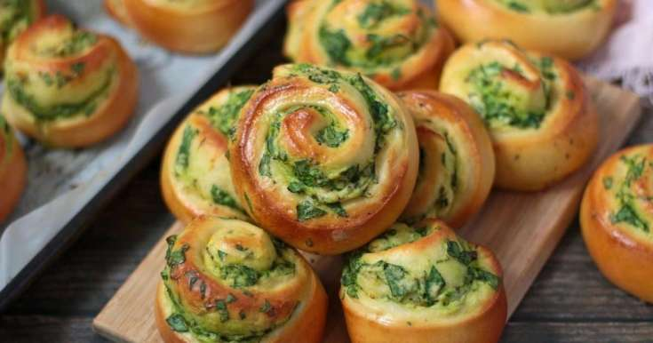 Spinach and Ricotta Rolls