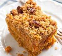 Sweet Potato Cake with Pecan Streusel