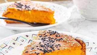 Bingka Labu - Kabocha Pumpkin and Coconut Milk Cake
