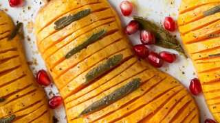 Hasselback Butternut Squash - My Kitchen Love