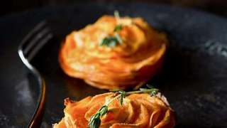 Nutmeg Sweet Potato Stacks