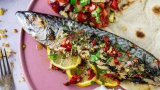 Baked Mackerel with Salad & Flatbreads • The Cook Report