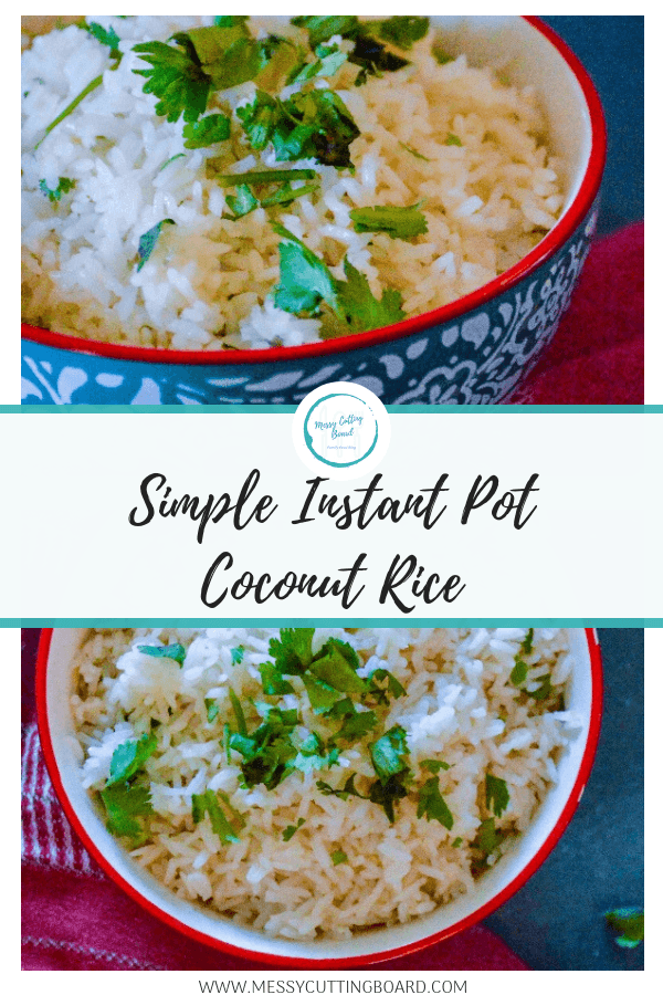 Pinnable image Coconut Rice