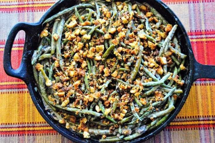 Cast Iron Green Bean Casserole