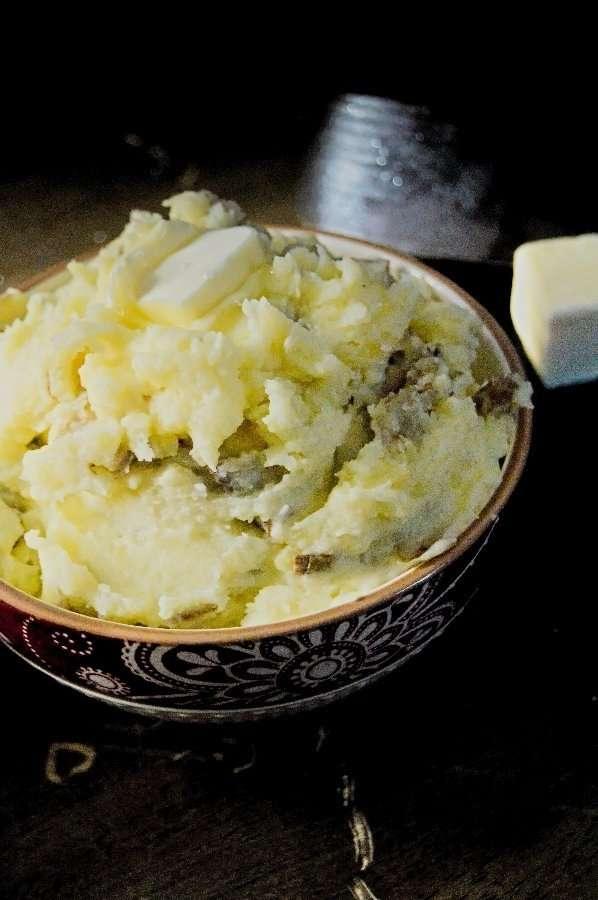 Up close Butter Golden Potatoes
